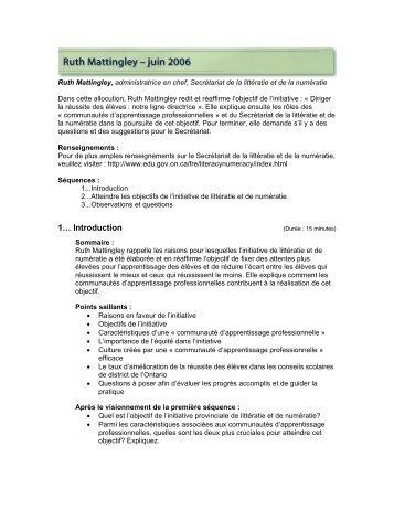 Guide d'étude - Curriculum Services Canada