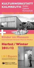 Herbst / Winter 2011/12 KULTURWERKSTATT KALMREUTH Kinder ...