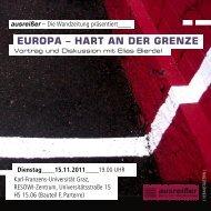 EUROPA – HART AN DER GRENZE - ausreißer - mur.at