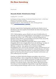 Biografie Mendini - Die Neue Sammlung