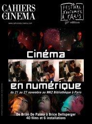 Brice De Palma, Stéphane Delorme, Complément Cinéma ...