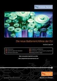 Die neue Batterierichtlinie der EU - Farnell