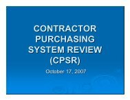 CONTRACTOR PURCHASING SYSTEM REVIEW (CPSR)