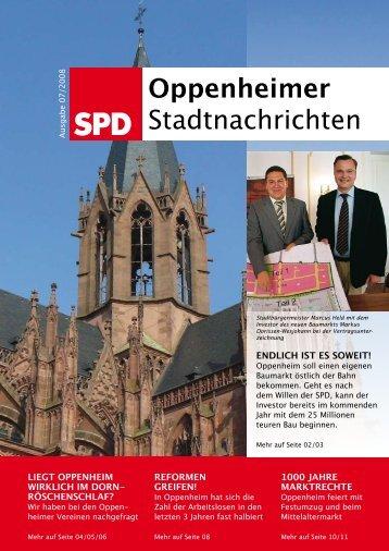 Oppenheimer Stadtnachrichten - SPD Oppenheim - Marcus Held