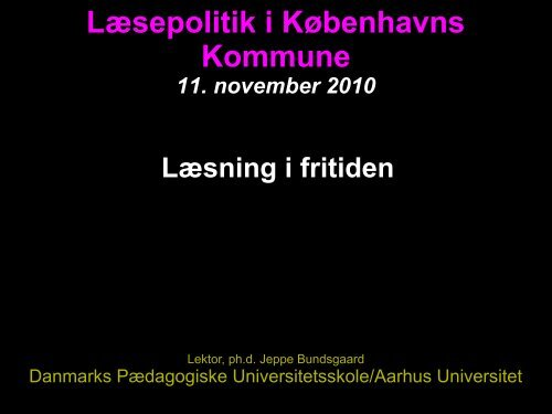 Læsning og skrivning i fritidslivet - Jeppe Bundsgaard