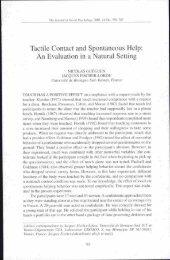 Tactile Contact and Spontaneous Help - Pr. Nicolas GUEGUEN