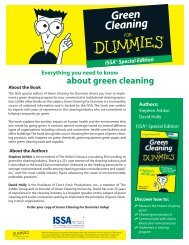 Green Cleaning For Dummies - ISSA.com