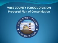 Proposed Plan of Consolidation - Wise County Public Schools