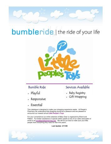 Bumble Ride Catalogue MAR09 - Little People's Toys