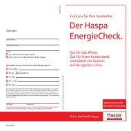 Der Haspa EnergieCheck. - Co2-Sparhaus