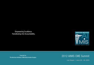 2012 AIMIS CME Summit - American Institute of Minimally Invasive ...
