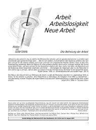 Arbeit Arbeitslosigkeit Neue Arbeit - Das Goetheanum