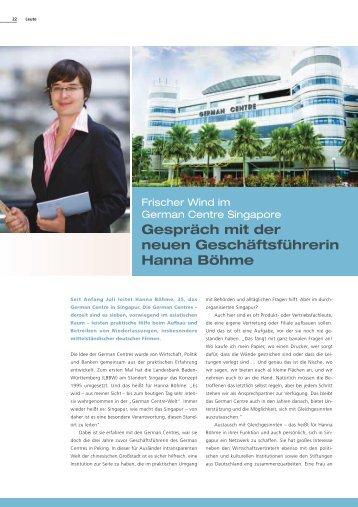 Gespräch mit der neuen Geschäftsführerin Hanna ... - German Centres