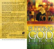 You're Invited sample - Partners In Ministry