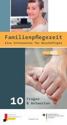 Broschüre Familienpflegezeit - eine information für beschäftigte