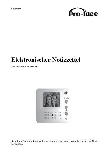 Elektronischer Notizzettel
