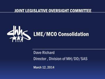 VI-LME MCO Consolidation Update - 2014 03 12