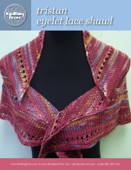 tristan eyelet lace shawl - Knitting Fever