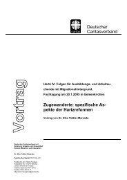 Zugewanderte: spezifische As- pekte der Hartzreformen - RAA NRW