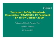 Transport Safety Standards Committee (TRANSSC) 19 ... - Ramtuc