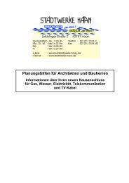 Hauff technik - Stadtwerke Haan