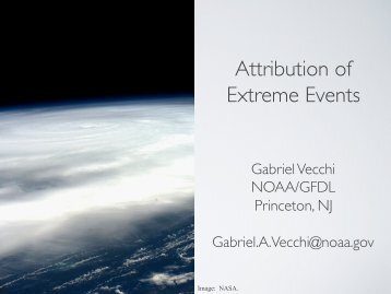 Attribution of Extreme Events - NOAA