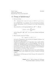 11. ¨Ubung zu Optimierung I - Heinrich-Heine-Universität Düsseldorf