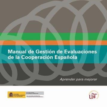 Manual de gestión de evaluaciones de la cooperación ... - AECID