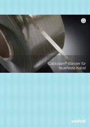 Cablosam®-Bänder für feuerfeste Kabel - Von Roll