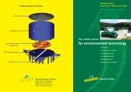 for environmental technology - Huning Maschinenbau