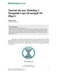 Tutorial 3ds max Modeling 1: Mengubah Logo 2D menjadi 3D (Bag.1)