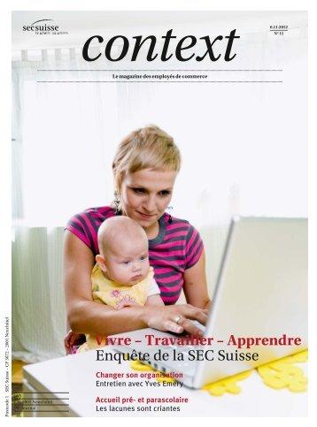 Context Nr° 11 2012 - Enquête (PDF, 4081 kb) - Sec Suisse