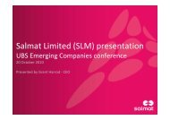 UBS Emerging Companies Conference Presentation - Salmat