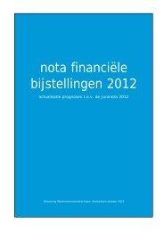 nota financiële bijstellingen 2012 - Uwv