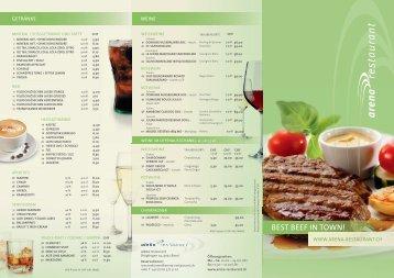 Menuekarte Arena Restaurant - Basel United AG