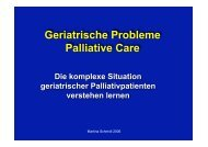 Geriatrische Probleme Palliative Care