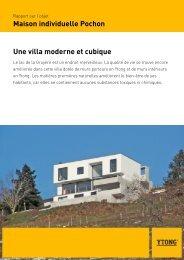 Maison individuelle Pochon Une villa moderne et cubique - Ytong