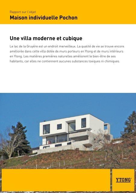 Maison Individuelle Pochon Une Villa Moderne Et Cubique   Ytong