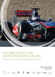 the first choice for grand prix hotels in 2013 - Hilton HHonors