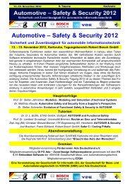 Tagungsprogramm Automotive 2012 Zeitplan ... - Ada Deutschland