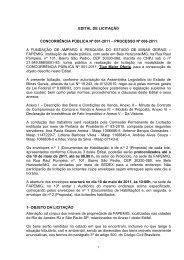 edital de licitação concorrência pública nº 001-2011 - Fapemig