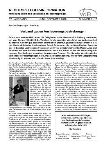 rechtspfleger-information - Verband der Rechtspfleger
