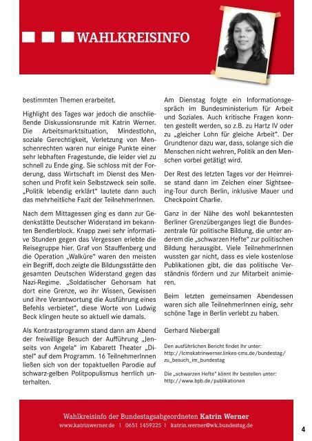 November - DIE LINKE. Katrin Werner