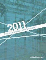 Rapport de développement durable 2011 (pdf 4 ... - Unibail-Rodamco