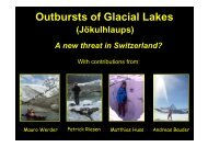 Outbursts of Glacial Lakes - CHy