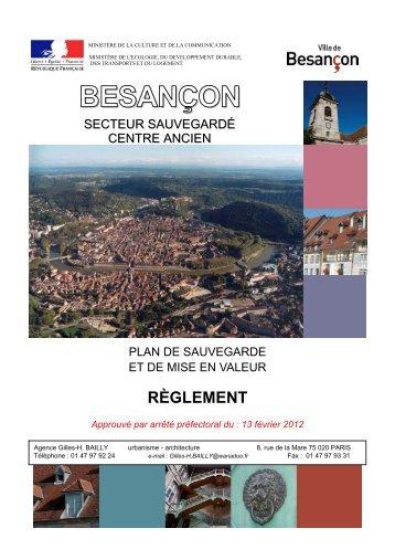 2-1 Pièces écrites - Besançon