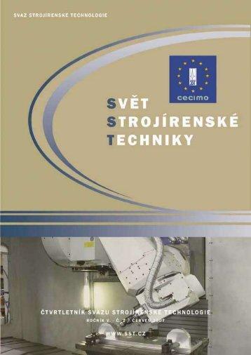 Svět strojírenské techniky číslo 2/2007 (PDF, 7.13 MB) - Svaz ...