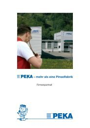 Firmenportrait - PEKA Pinselfabrik AG