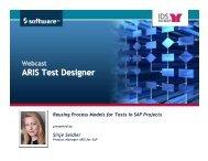 Process Driven SAP Test Designer_webcast_sise - Software AG