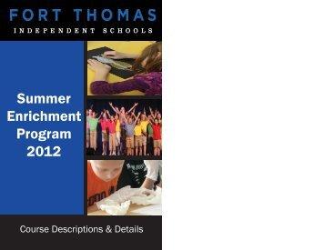 Summer Enrichment Program 2012 - Fort Thomas Independent ...
